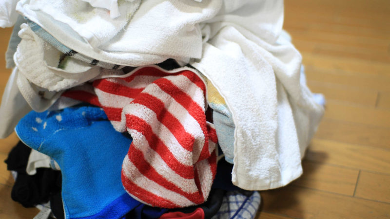 入浴後、シャツや服などの臭いを嗅いでみる