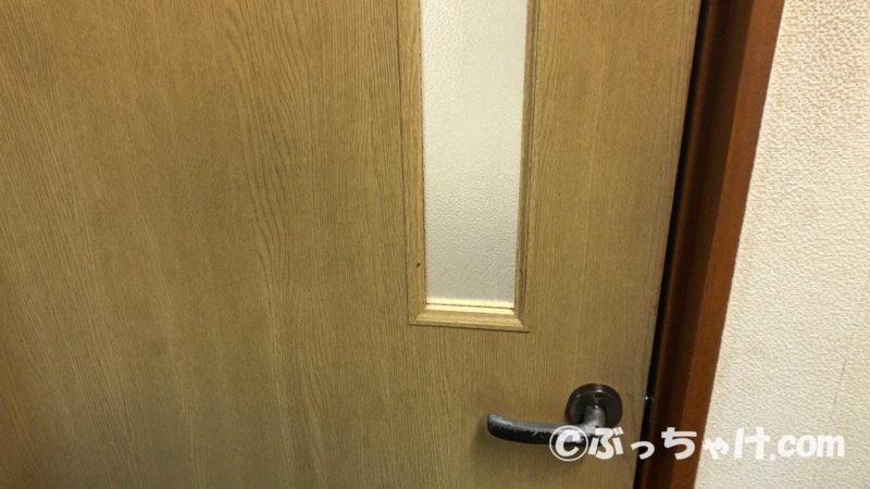 掃除した後の扉表面の状態