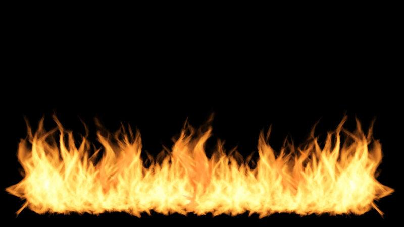1階の地面から何故か火が噴いた!