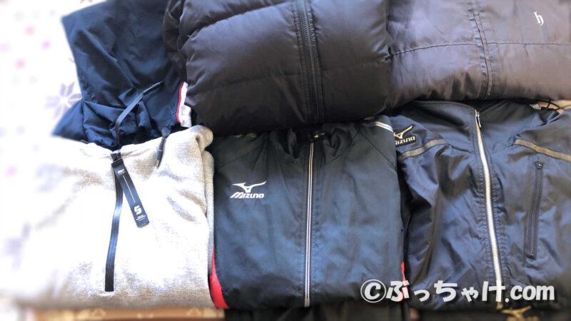 アパレルボックスに入れる衣類の量