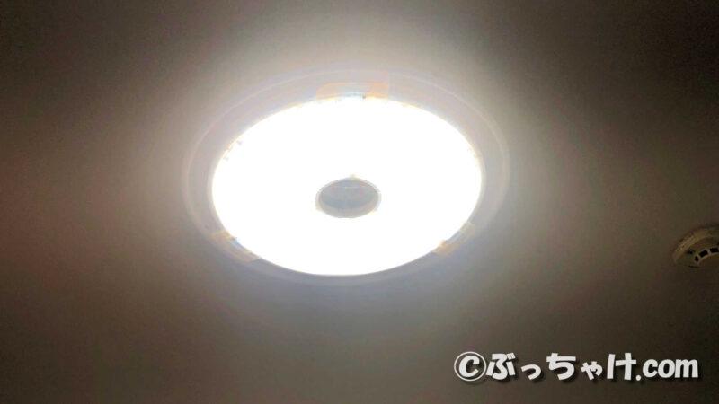 LEDシーリングライト CL6DL-6.0UAITを100%点灯させた状態