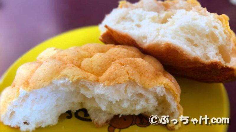 「サックリメロンパン」の食感や味