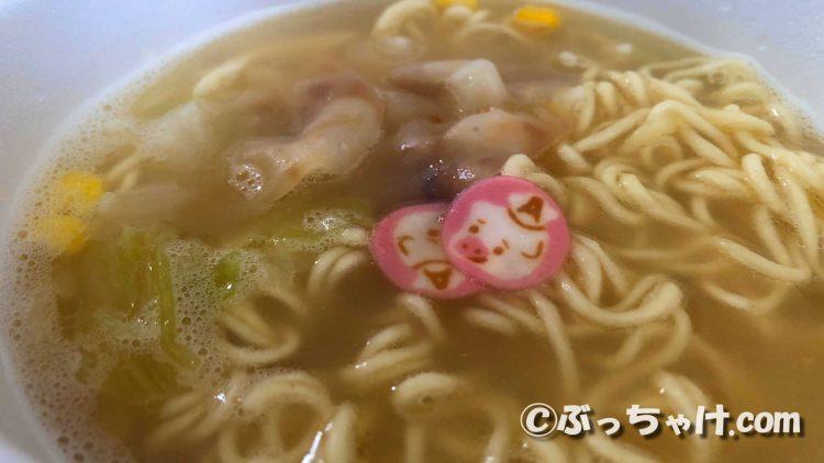ワンタンメンどんぶり タンメン味のスープ