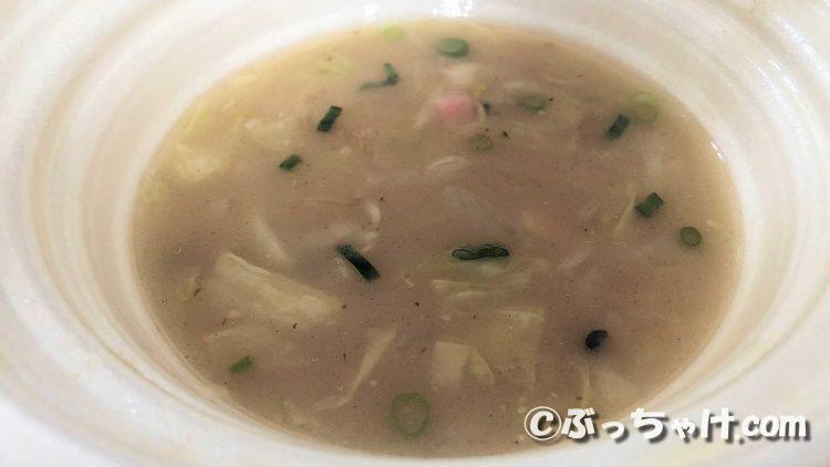 「スープを味わうコク旨ちゃんぽん」のスープ