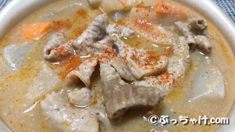 【セブンイレブン】「ピリ辛もつ煮込み」の食レポ
